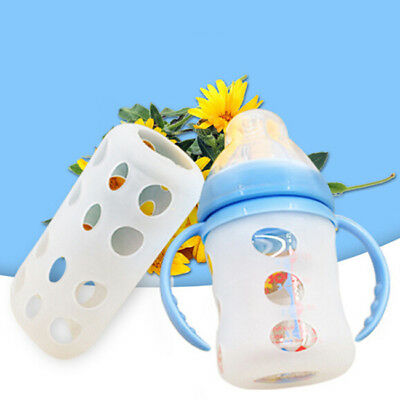 Silicone Glass Baby Feeding Bottle Cover Bottle Sleeve Protect Insulation S