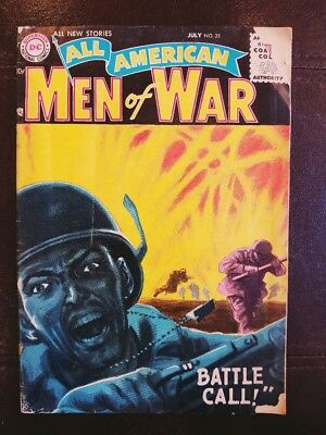 """All American Men of War Issue No.35 July 1956 """"Battle Call!"""" Vintage DC Comic"""