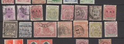 A very nice old Transvaal group with some overprints