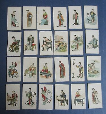 Lot of 24 Old Antique EAGLE Cigarette CARDS CHINESE - British American Tobacco