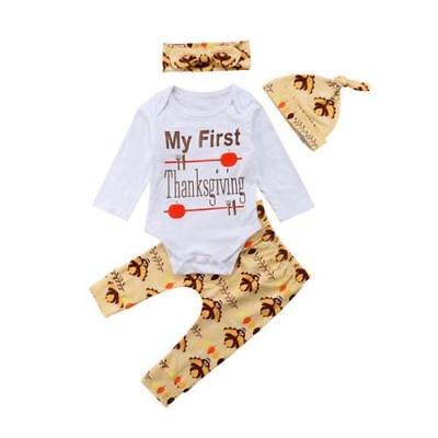 "S-462 4PC Infant ""My First Thanksgiving"" Set Size 6M-24M (Free Shipping)"