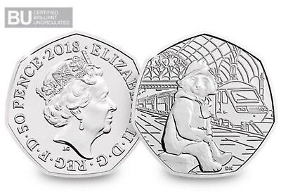 2018 Uk Paddington Bear At The Station Certified Bu 50P- Official Uk Issue