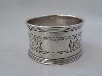 Engraved Chester 1921 Solid Sterling Silver Napkin Ring/ H 2.4 cm