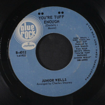 JUNIOR WELLS: You're Tuff Enough / The Hippies Are Trying 45 (closer to VG+, sl