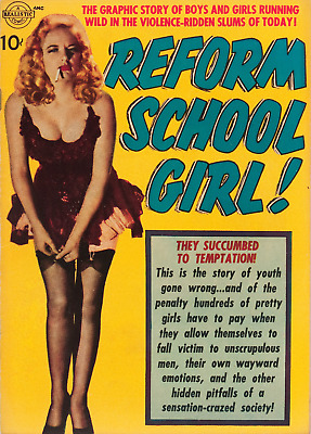 Reform School Girl Photocopy Comic Book, 7 Pages of Black and White Reprint