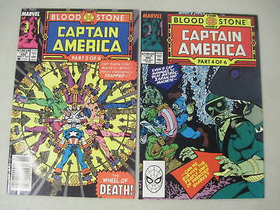 Captain America #359 & 360 Marvel Comics 1989 1St Appearance Of Crossbones