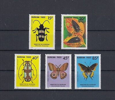 Timbre Stamp 5 Burkina Faso Y&t#700-04 Papillon Insecte Neuf**/mnh-Mint 1986~C09