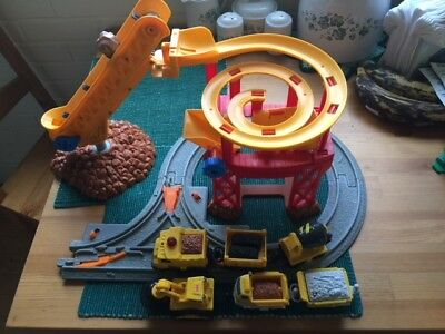 Fisher Price Geotrax Construction Pieces Lift Load Track Cars - Geo Trax