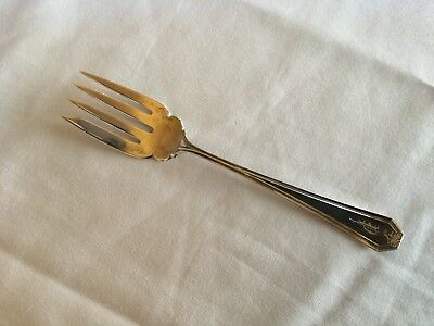 Antique Whiting Sterling Silver Salad Fork In The Lady Baltimore Pattern