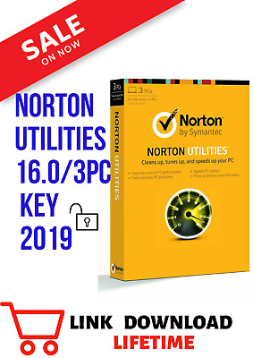 Norton Utilities 16 (2019) 3PC digital download lifetime license.