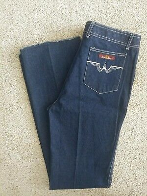 Vintage 1980 Jordache Jeans New Nwt Stitched Pockets Flared Cuff Silver Logo 34
