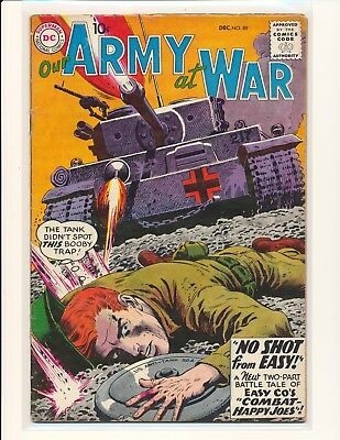 """Our Army At War # 89 - """"No Shot From Easy"""" story & Heath cover VG Cond."""