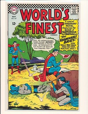 World's Finest Comics # 157 - 1st Bat-Mite Jr. VG Cond. subscription crease