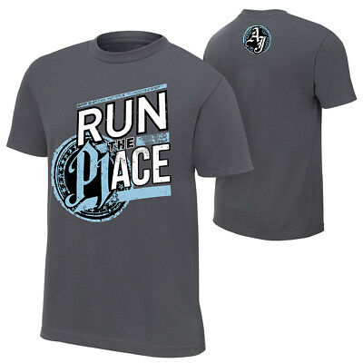 AJ Styles-Run The Place 2018 AUTHENTIC T-SHIRT S-5XL WWE SMACKDOWN A J P1 RAW