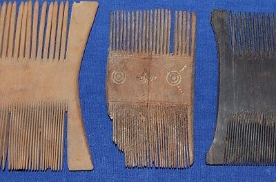 3 Ancient Egypt Wooden Combs