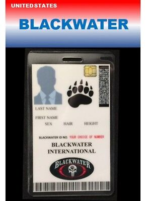 international ID collection..USA...Vertical Card...<<BLACKWATER>>