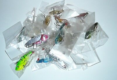 50 X Mixed New Blade Lures In Various Sizes And Colours, Closeout Sale