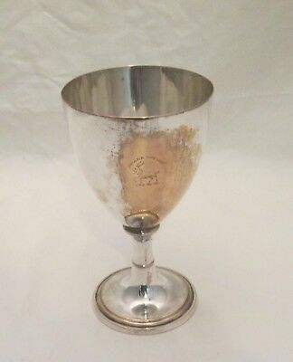 A Very Fine Old Sheffield Plate Chalice / Goblet with Crest c1780