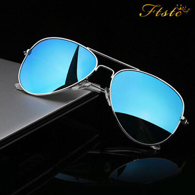 Air Force Aviator Sunglasses  Silver Mirror Lens  Mens Womens Unisex FREE POST