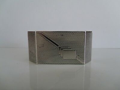 """A Heavy Antique Solid Silver Art Deco Napkin Ring """"birmingham 1937 By H.s"""""""