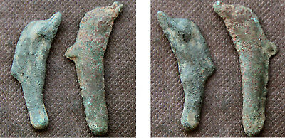 "THRACE / OLBIA - 2 DOLPHIN MONEY ""COINS"" c. 5th-4th Century BC"