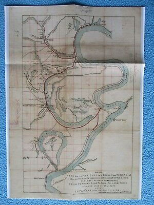 #  Civil War Map - Map of Parts of Parishes Madison & Tensas, Louisiana, Bayous