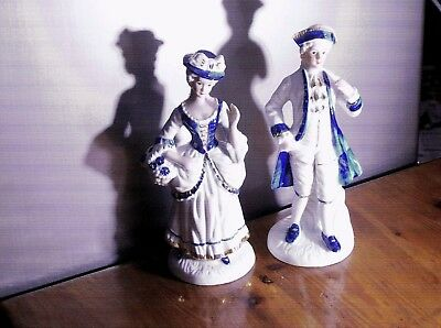 Pair Of Crown Staffordshire Figures - Perfect
