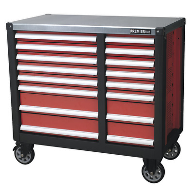 AP24216 Sealey Mobile Workstation 16 Drawer with Ball Bearing Runners
