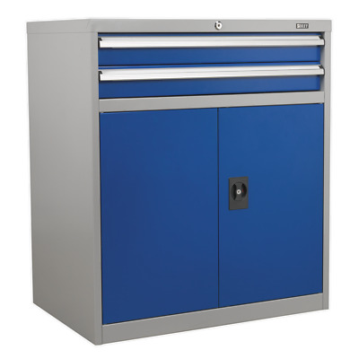 API8810 Sealey Industrial Cabinet 2 Drawer & 1 Shelf Double Locker