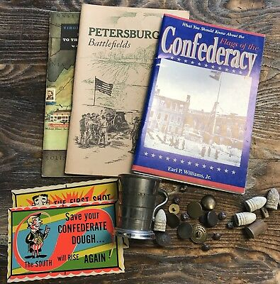 Original Civil War Group Lot of Assorted Military Items Cup Booklets Post Cards
