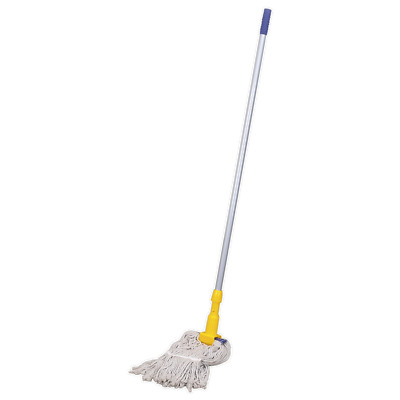 BM17 Sealey Tools Cotton Mop 350g with Handle [Janitorial] Mops