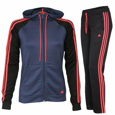 adidas Damen Trainingsanzug mit Kapuze New Young Knit Hoody Jogginganzug