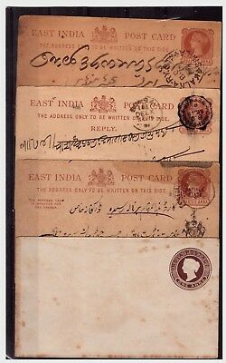 Egypt Postal Cards & Cover. 1800's. Used/Unused/Toning. #1047