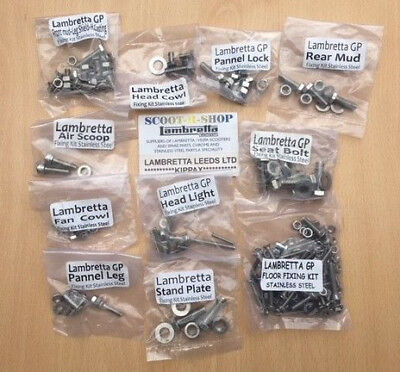 Lambretta Gp 200 Piece Stainless Steel Nut And Bolt Fixing Kit
