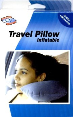 Inflatable Travel Pillow Airplane Seat Neck U Support Cushion Blow Up Head Rest