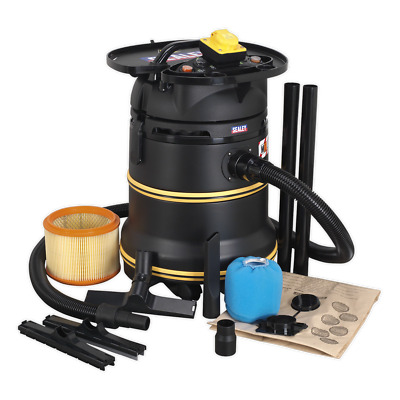 PC35110V Sealey Vacuum Cleaner Industrial Wet & Dry 35ltr 1200W/110V M Class