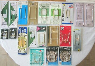 Lot Of 20 New Old Stock Assorted Sizes Spring Plate Wall Hangers, Some Vintage