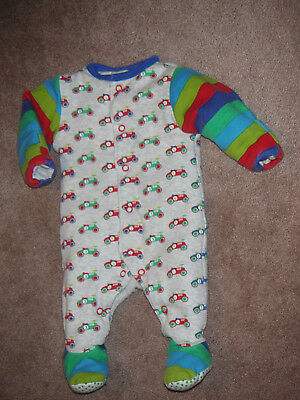 Boys Mothercare Padded Sleepsuit Sleepwear New Baby Up To 10Lbs Vgc