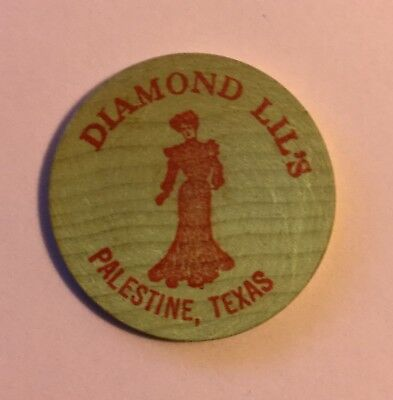 Palestine, Texas Diamond Lil's 1981 Wooden Nickel