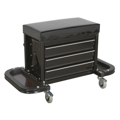 SCR18 Sealey Mechanic's Utility Seat & Tool Box [Creepers & Seats]