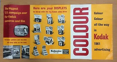 ORIGINAL 1961 KODAK ADVERTISING POSTER,, 370mm x 750mm