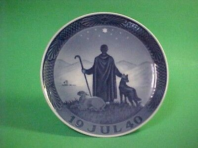 vintage ROYAL COPENHAGEN CHRISTMAS PLATE ~ 1940 ~ SHEPHERD in the DESERT