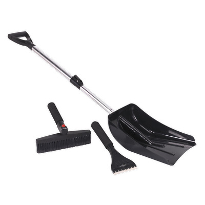 SSK3 Sealey Auto Snow Kit 3pc [Janitorial] Shovel Snow Shovels Shovels, Snow
