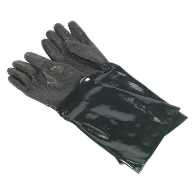 SSP41 Sealey Shot Blasting Gauntlets 585mm Cuffed - Pair [Hand Protection]