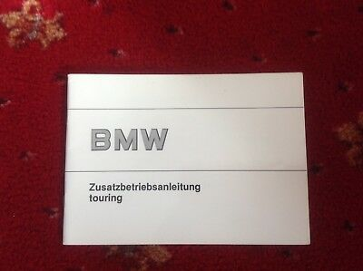 BMW Touring Supplementary Owners Handbook