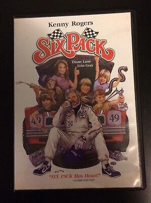 Six Pack (1982) DVD Anchor Bay 2006 Kenny Rogers Diane Lane NASCAR