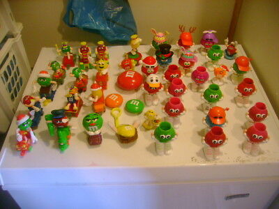 HUGE M&M's COLLECTIBLES LOT42x FIGURINES CONTAINERS TRAINS CHRISTMAS HOLIDAYS