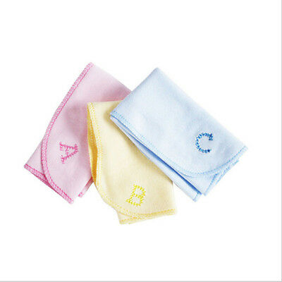 3Pcs Baby Newborn Face Washers Hand Towel Cotton Feeding Wipe Wash Cloth LD
