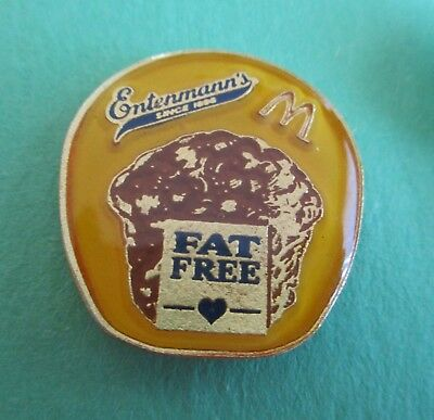 Entenmann's Fat Free (Muffins) McDonald's Lapel Restaurant Advertising Pin