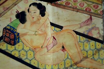 Rare Chinese Handwork Paint Collectible Men And Women Sex Antique Painting Album